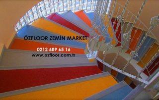 Anaokulu Renkli Merdiven Kaplaması