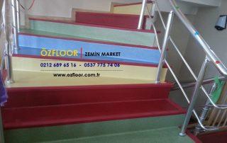 renkli merdiven döşemeleri
