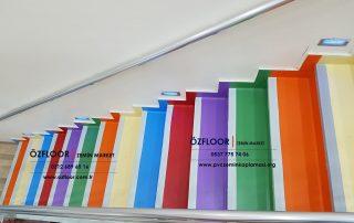 renkli merdiven kaplama malzemeleri