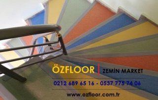 renkli merdiven kaplamaları