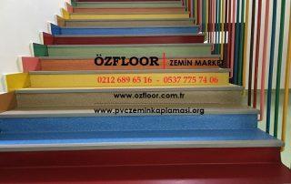 Renkli Merdiven Kaplaması